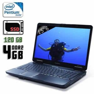 Ноутбук б/у Acer eMachines E725, Диагональ 15.6, 2 Ядра, ОЗУ-4Gb, SSD-120Gb, Веб-камера