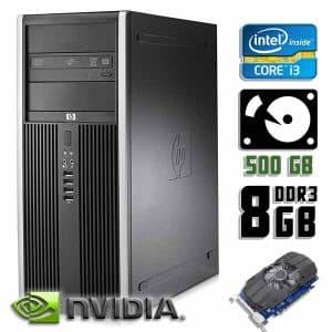 Компьютер б/у HP Compaq 8200 Elite, Core i3 2120, GT710, DDR3-4Gb, HDD-500Gb