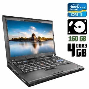Ноутбук б/у Lenovo ThinkPad T400, Экран 14, Core i5 520M, DDR3-4 Gb, HDD-160 Gb