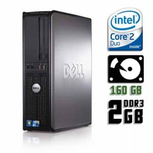 Компьютер б/у Dell OptiPlex 380 SFF, 2 ядра, DDR3-2Gb, HDD-160Gb