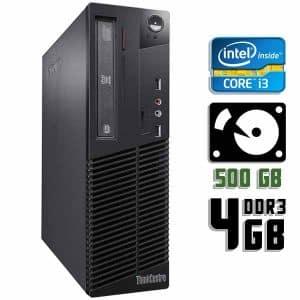 Компьютер б/у Lenovo ThinkCentre M72e, Slim корпус, Core i3 3220, DDR3-4Gb, HDD-500Gb