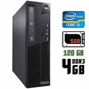 Компьютер б/у Lenovo ThinkCentre M72e, Slim корпус, Core i3 3220, DDR3-4Gb, SSD-120Gb
