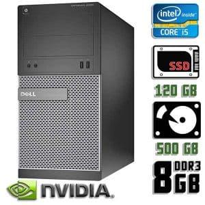 Игровой компьютер б/у Dell Optiplex 3020, Core i5 4570, DDR3-8Gb, SSD+HDD, GeForce GTX 1060-3Gb