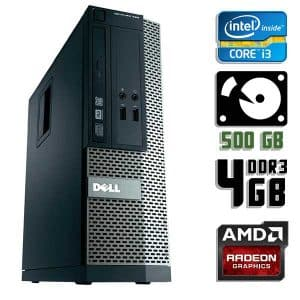 Игровой компьютер б/у Dell Optiplex 390 SFF, Core i3 2120, DDR3-4Gb, HDD-500Gb, Radeon HD