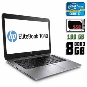 Ноутбук б/у HP Elitebook 1040 G2, Экран 14.1, Core i7 5600U, DDR3-8Gb, SSD-180Gb, Веб-камера