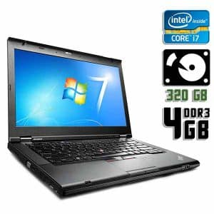 Ноутбук б/у Lenovo ThinkPad T430, Экран 14, Core i7 3520M, DDR3-4Gb, HDD-320Gb, Веб-камера