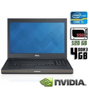 Игровой ноутбук б/у Dell Precision M4600, Экран 15.6, Core i5 2520M, Quadro 1000M, DDR3-4Gb, SSD-120Gb