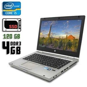 Ноутбук б/у HP EliteBook 8460p, Экран 14, Core i5 2520M, DDR3-4Gb, SSD-120Gb