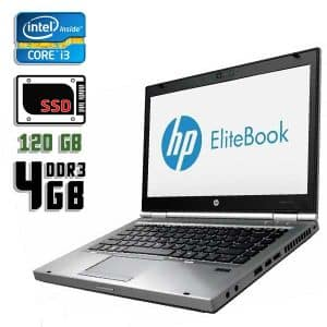 Ноутбук б/у HP EliteBook 8470p, Экран 14.1, Core i3 3110M, DDR3-4Gb, SSD-120Gb