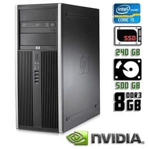 Игровой компьютер б/у HP Compaq 8300 Elite, Core i5 3470, DDR3-8Gb, SSD+HDD, GeForce GTX 1050 Ti