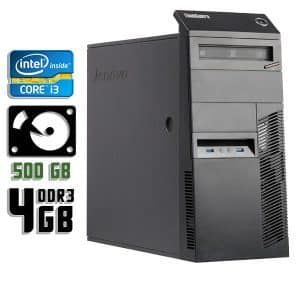 Компьютер б/у Lenovo ThinkCentre M83, Core i3 4160, DDR3-4Gb, HDD-500Gb