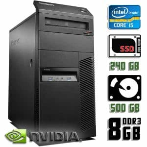 Компьютер б/у Lenovo ThinkCentre M83, Core i5 4570,  GeForce, DDR3-8Gb, GeForce, SSD+HDD
