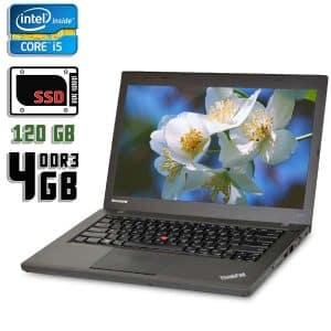 Ноутбук б/у Lenovo ThinkPad T440, Экран 14.1, Core i5 4300M, DDR3-4Gb, SSD-120Gb, Вебкамера
