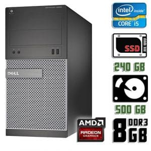 Игровой компьютер б/у Dell Optiplex 3020, Core i5 4570, DDR3-8Gb, SSD+HDD, Radeon RX 570