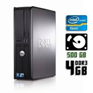 Компьютер б/у Dell OptiPlex 380 SFF, 4 ядра, DDR3-4Gb, HDD-500Gb