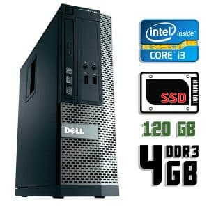 Компьютер б/у Dell Optiplex 390 SFF, Core i3 2100, DDR3-4Gb, SSD-120Gb