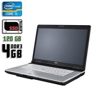 Ноутбук б/у Fujitsu LifeBook E751, Диагональ 15.6, Core i5 2520M, DDR3-4Gb, SSD-120Gb, Веб-камера