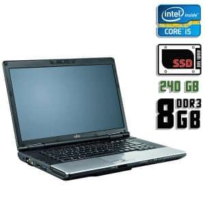 Ноутбук б/у Fujitsu Lifebook E752, Диагональ 15.6, Core i5 3230M, DDR3-8Gb, SSD-240Gb, Веб-камера