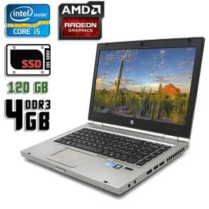 Ноутбук б/у HP EliteBook 8460p, Экран 14, Core i5 2540M, DDR3-4Gb, SSD-120Gb, Radeon HD 6470M
