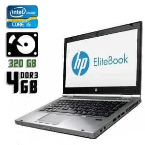 Ноутбук б/у HP EliteBook 8470p, Экран 14.1, Core i5 3320M, DDR3-4Gb, HDD-320Gb