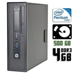Компьютер б/у HP EliteDesk 800 G1 SFF, Pentium G3420, DDR3-4Gb, HDD-500Gb