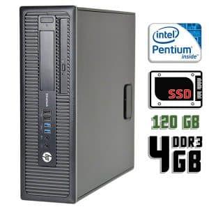 Компьютер б/у HP EliteDesk 800 G1 SFF, Pentium G3420, DDR3-4Gb, SSD-120Gb