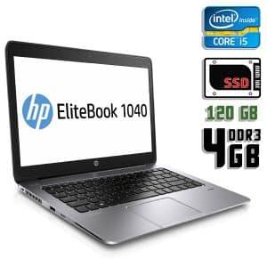 Ноутбук б/у HP Elitebook Folio 1040 G1, Экран 14.1, Core i5 4200U, DDR3-4Gb, SSD-120Gb, Веб-камера