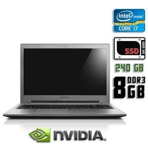 Игровой ноутбук б/у Lenovo IdeaPad Z500, Экран 15.6, Core i7 3632QM, GeForce GT 645M, DDR3-8Gb, SSD