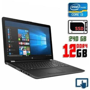 Ноутбук б/у HP 15-bs033cl, Экран 15.6, Core i3 7100U, DDR4-12Gb, SSD-240Gb, Сенсорный