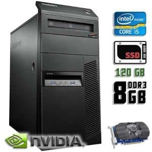 Игровой компьютер б/у Lenovo ThinkCentre M93p, Core i5 4570, DDR3-8Gb, SSD-120Gb, GTX-1060