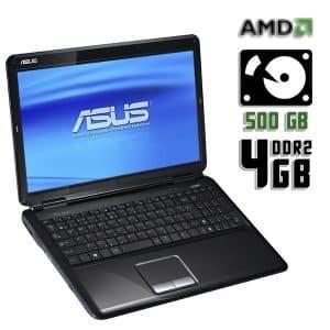 Ноутбук б/у Asus K51AC, Диагональ 15.6, 2 Ядра, ОЗУ-4Gb, HDD-500Gb, Веб-камера