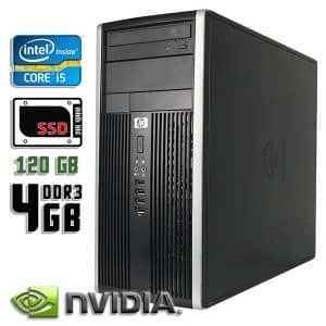 Игровой компьютер б/у HP Compaq Pro 6200, Core i5 2400, GT-710, DDR3-4Gb, SSD-120Gb