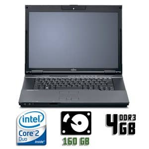 Ноутбук б/у Fujitsu Esprimo D9510, Экран 15.4, 2 Ядра, DDR3-4Gb, HDD-160Gb, Веб-камера