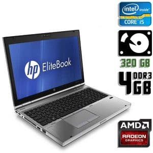 Ноутбук б/у HP EliteBook 8560p, Экран 15.6, Core i5 2Gen, DDR3-4Gb, HDD-320Gb, Веб-камера