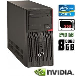 Игровой компьютер б/у Fujitsu Esprimo P420 E85, Core i3 4Gen, DDR3-8Gb, SSD-240Gb, GeForce GTX 750 Ti